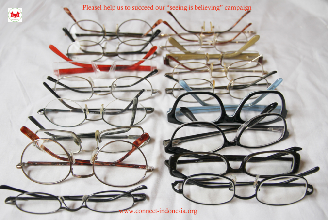 22 pairs of reading glasses for our weavers in Timor, this month, September 2014