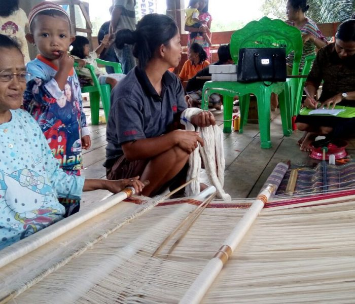 Our glasses were distributed to weavers in Toraja, South Sulawesi