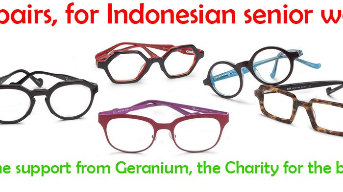 More glasses to share with our weavers – over 1600 pairs new stock this month