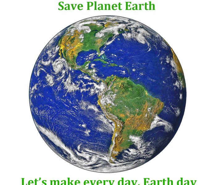 Saving planet earth is our responsibility, you and I